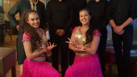 Manager Amran Hussain, the Yuva team and Bollywood dancers. Picture: Yuva
