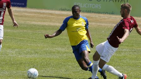 St Albans City opened their 2018-19 season with a friendly at home to Northampton Town. Picture: LEI