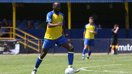 Tarik Moore-Azille of St Albans in the pre-season friendly match between St Albans City and Northamp