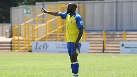 Harold Jospeh of St Albans in the pre-season friendly match between St Albans City and Northampton T