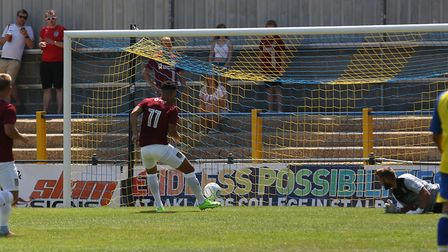 Northampton Town score in the pre-season friendly match between St Albans City and Northampton Town.