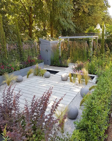 The Secured By Design garden at RHS Hampton Court Palace Flower Show 2018. Picture: Lee Honey/PA