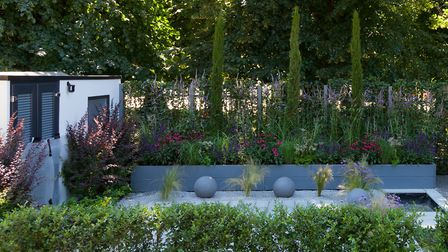 The Secured By Design garden at Hampton Court Palace Flower Show 2018. Picture: Lee Honey/PA