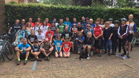 The Jollies for OLLIE charity cycle ride. Picture: Catherine Breen