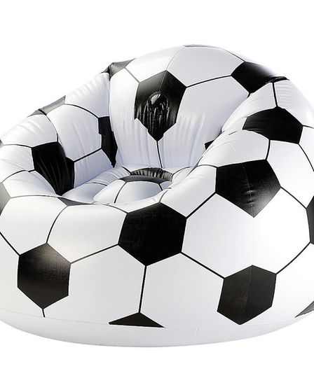 Subs' bench: The XXL football inflates when you need extra seating and can be dumped anywhere with a
