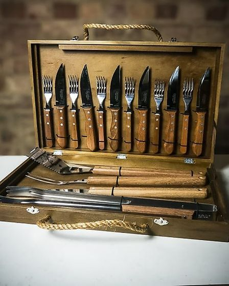 Team kit: The Tramontina 17-piece BBQ set is as Brazilian as Neymar and retails at £175 from www.fa