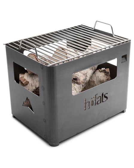 Inside the box: It''s a fire basket, grill, and converts to a beer box. It even incorporates a built