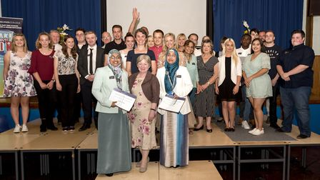 The students and staff at the Oaklands College Celebration of Success ceremony. Picture: Lello Ametr