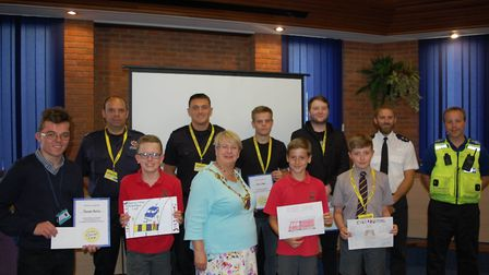 The winners of the safety poster competition. Picture: St Albans council