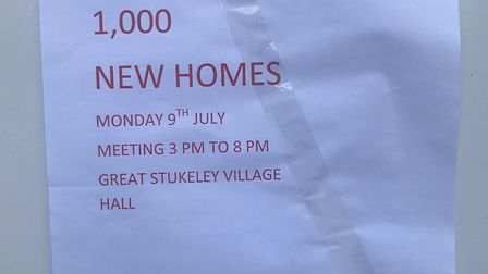 Residents have put posters up objecting the plan