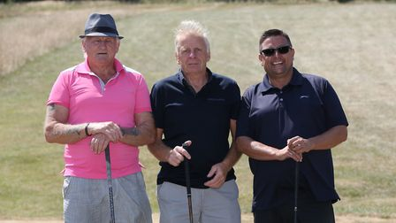 Teams compete in the third annual Hanson's golf day at Royston Golf Club to raise money for children
