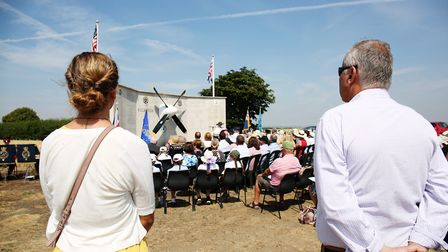 The 355th Fighter Group 75th anniversary memorial service at Steeple Morden. Picture: DANNY LOO