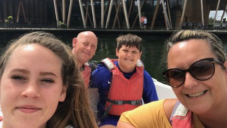 Lysa Kemp has been on holidays with her family to create wonderful memories since she was diagnosed