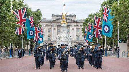 Members of the RAF Wyton Area Voluntary Band joined other voluntary bands by performing in the Mall