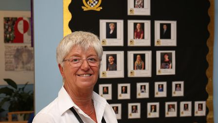 Carol Read is retiring from her job at Meridian School after 45 years of service. Picture: WILL DURS