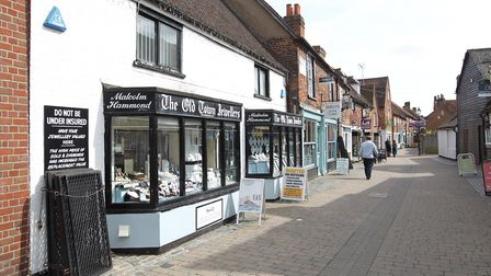 Some of the independent businesses on Middle Row in Stevenage's Old Town