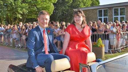 Bassingbourn VC students make an entrance for their prom. Picture: BVC