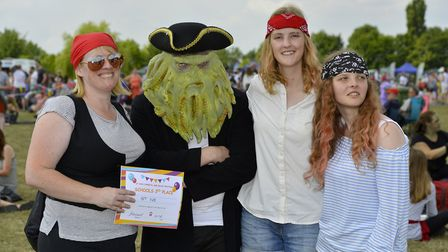Amy Hart , George Abelwhite, Kitty Nevill and Laila Hart at St Ives Carnival. Picture: DUNCAN LAMONT