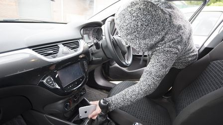 Thefts from vehicles have risen 10 per cent on average in Herts. File photo.