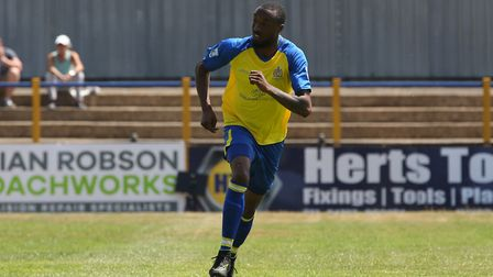 Ralston Gabriel featured in the games against Northampton Town and Stevenage for St Albans City. Pic