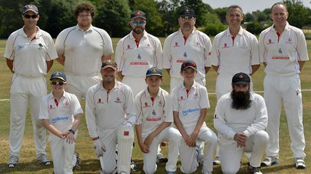 Godmanchester Town 2nds, pictured ahead of their Hunts League Division Two defeat at Alconbury last