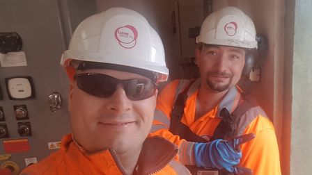 Lanes for Drains workers Dan Edwards and Andy Heath, who tackled the rubbish-bag fire outside Hitchi
