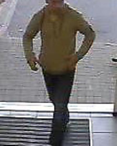 Police released this image of a man they would like to speak to in connection with a theft from a va