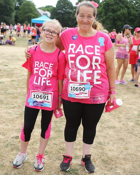 St Albans Race For Life 2018 - Janette and Amelia Adams.Picture: Karyn Haddon