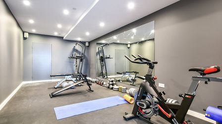 There is a gym on the lower ground floor