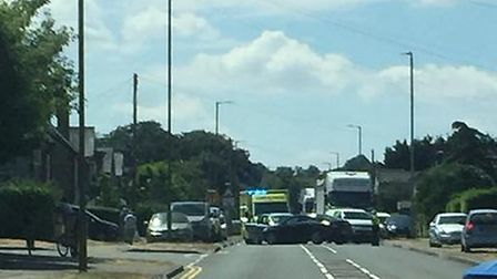 The crash happened on Melbourn Road in Royston. Picture: Lara Oliver