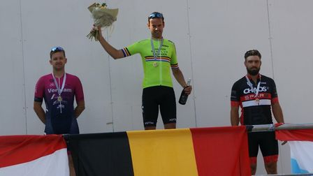 Marcel Six (left) was second at the Benelux Championship at the Zolder Race Circuit.