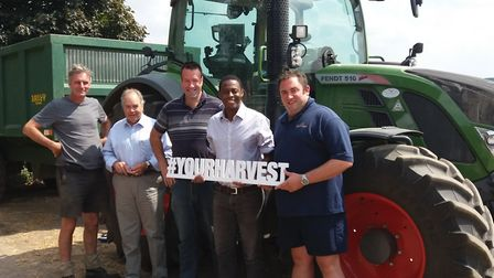 Left to Right: Will Dickinson, NFU Regional Board Chairman; Gordon Chichester Miles, St Albans NFU B