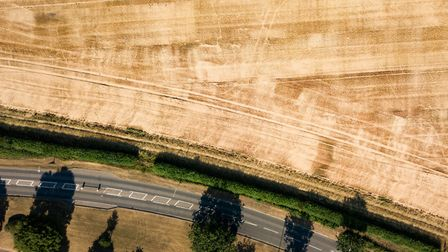 Snapshots of St Albans, captured by drone. Jersey Farm. Picture: Robin Hamman