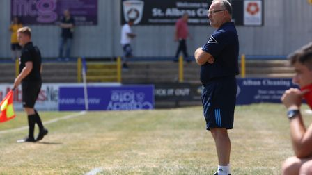 Ian Allinson thinks it is about time St Albans City start winning trophies. Picture: DANNY LOO