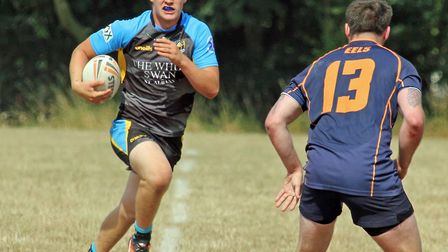 Luke Powdrell scored a hat-trick for St Albans Centurions against Brentwood Eels. Picture: Darryl Br