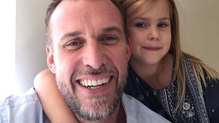 Neil Pickersgill and his daughter.