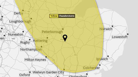 A yellow weather warning for thunderstorms has been issued. Picture: MET OFFICE