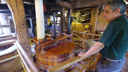 Steve Bellis with some of Houghton Mill's milling machinery