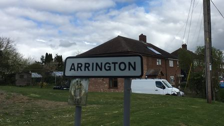 Households along Ermine Way in Arrington are still affected by water problems. Picture: Archant