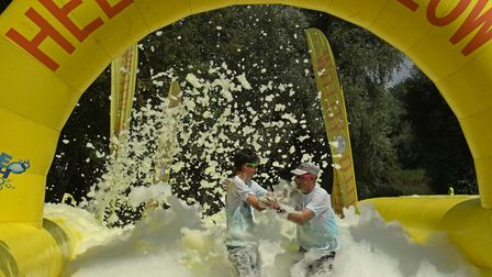 The Bubble Rush took place in Riverside Park, Huntingdon. Picture: ARCHANT