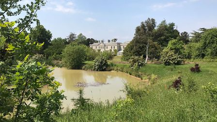 The one-and-a-half acre lake is stocked with 2,000 fish