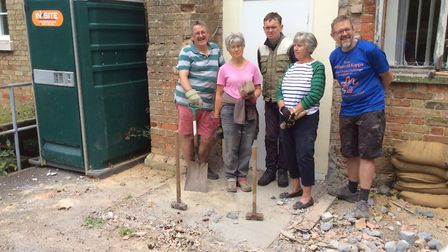Renovation work has started at Catworth Village Hall. Picture: CONTRIBUTED