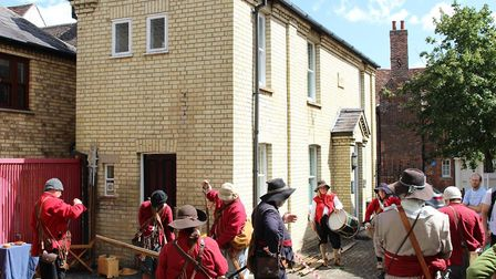 Civil War re-enactors took over Royston's district museum at the weekend. Picture: Rioyston & Distri