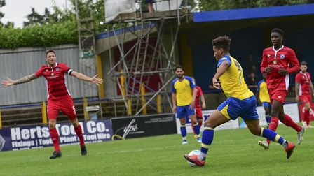 St Albans City face Billericay Town in a pre-season friendly last year. Picture: BOB WALKLEY