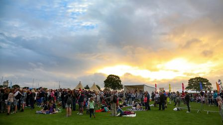 The sun goes down on the Friday night of the first ever Meraki Festival. Picture: Danny Loo