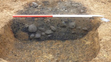 Iron Age cooking pits. Picture: MOLA Headland