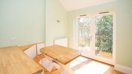 The dining area opens out onto the rear garden