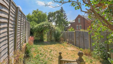 The property has a large rear garden