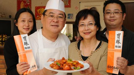 Takeaway owner Chee Yin Wong and wife Lai Fong Wong with son Kit Wong and daughter Yee Hau.