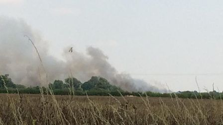 The fire is in the Whaddon Road area of Meldreth. Picture: Deborah Townsend